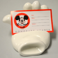 Mickey Mouse White Glove Business Card/Phone  Holder