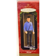 2 Hallmark Ornaments: Star Trek Dr McCoy & NCC-1701-e First Contact