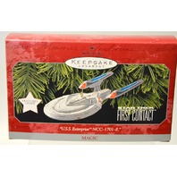 "Hallmark Keepsake Ornament ""U.S.S. Enterprise NCC-1701-E""   Magic. #07633"