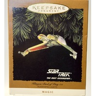 "Hallmark Keepsake Ornament Star Trek""Klingon Bird of Brey - Magic #07386"