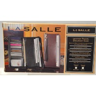 LaSalle Leather Travel Document Case - Zipper Closure with carry strap.#25962