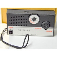 Stewart - Vintage Transistor Radio with Mirror and Light - New Old Stock #22838