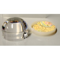 """Acrylic Dome Shape Map Reading Magnifier Paperweight 5X - 2 1/2"""" Dia. w/Holder"""