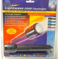 Vintage Lightwave Black LED Flashlight LW-2000 Black - 3 AA Batteries
