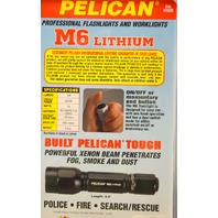 Pelican Black Knight Series M6 Lithium - On/Off or momentary end .2320-010-180
