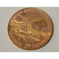 "2 - Illinois State Sesquicentennial Coin 1 1/2"" dia. 1818 - 1968"