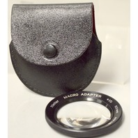 Vivitar 52mm Macro Adapter +10 lens with leather case.