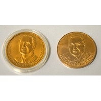 2 Coins: Chicago Mayor Richard J. Daley and Mayor Michael A. Bilandic