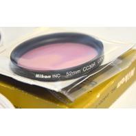 3 Nikon 52mm Lens Filters L37, L1Bc,CC30R - All in plastic cases.