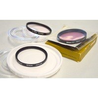 3 Nikon 52mm Lens Filters L37, L1Bc,CC30R - All in plastic cases.