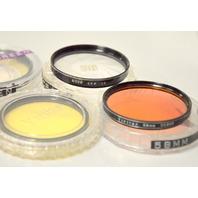 5 - 58mm Lens Filters - Different Manufacturers - see description