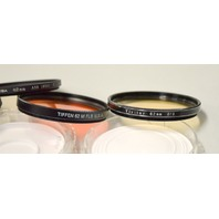 4 - 62mm Camera  Lens Filters- Toshiba, Vivitar and Tiffin #A18