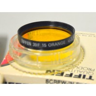 4 - Tiffen 39F/39mm Lens Filters. Orange 15G,Yellow 12, 80A and 81A