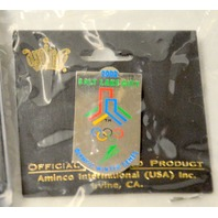 7-Salt Lake City 2002 Olympic Pins, 5 Small, 1 Med Size Ltd Edition and 1 Jumbo.