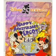 Disney Rewards 2007 - Happy Anniversary Epcot 25th Year - LE - 08959