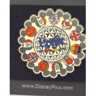 Epcot Flag Spinner Pin