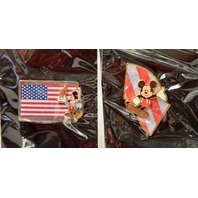Disney Store Patriotic Tribute Pins Set of 4 All NOC - #50059