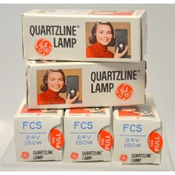 5 - GE Quartzline Lamp FCS 24V 150W - NIB- New Old Stock