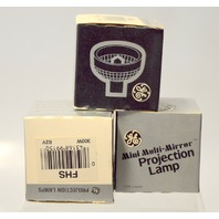 GE Mini Multi-Mirror Projection Lamp FHS 300W - 82V New Old Stock - 3  Lamps