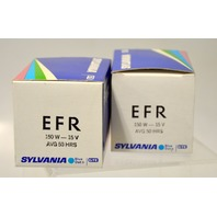 "2 - Sylvania ""EFR"" 150W -15V Tungsten Halogen Projector Lamp New Old Stock"