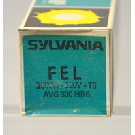 "Sylvania ""FEL"" 1000W - 120V - T6 Tungsten Halogen Lamp - New old stock."