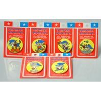 1984 Yankee Dooley All American Gold Menalist Pins - 6 pins
