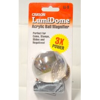 Carson LumiDome Acrylic Ball 3X Power Magnifier LL-3 - Perfect for Coins,Stamps etc