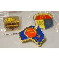 8 - 2000 Sydney Olympic Pins - MicDonalds Logos.