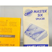 Craig S6 Master Six Splicer w/ Paperwork - New Old Stock.
