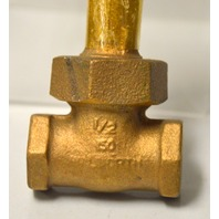 "Walworth 1/2"" Female NPT Bronze Gate Valve 150 - New Old Stock"