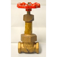 "Walworth 3/8"" NPT Brass Gate Valve 150 New Old Stock"