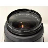 Minolta AF Zoom 28-80mm 1:4 (22) -56mm Lens w/Vivitar UV Haxe 55mm Lens Filter