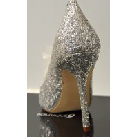 "Boutique9 #60210978-6JF, Size 8M Ladies Dress Shoes, 4"" Heels, Silver Glittery"
