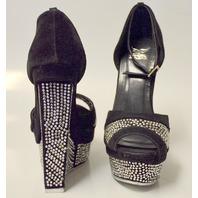 Shiekh Shoes Style #093 - Black/Grey Multi Dress Shoes Size 5 1/2 Medium