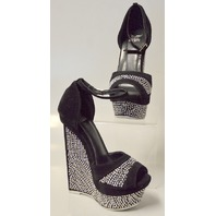 Shiekh Shoes Style #093 - Black/Grey Multi Dress Shoes Size 5 1/2 Medium