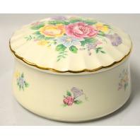 Heritage House Music Trinket Box-Porcelain-Celebation Floral Collection - no box.
