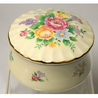 Heritage House Music Trinket Box-Porcelain-Celebation Floral Collection - no box.