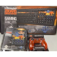 3 pc Set of SteelSeries ZBoard Keyboard, Gaming Keyset and 1GC Controller