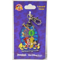 Disney Parks Mickey Mouse and Friends Lanyard Medal.