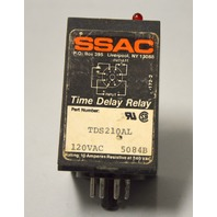 SSAC TSD210AL Time Delay Relay, 120 VAC 5084B - Untested.