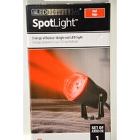 2 - Gemmy Steady Red  Spot light, base has 3 holes for securing to wall.