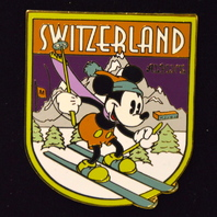 "Disney Collectibe Pin ""Mickey Mouse in Switzerland""  #00258 Disney Auctions"