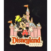 Disney Auction Disneyland Resort Mickey in front of Castlew/Goofy's hat on.  LE 1000