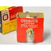 Ohmite Vitreous Emaneled Theostat 50 Watt,Model J,Series A 125 Ohm #0320