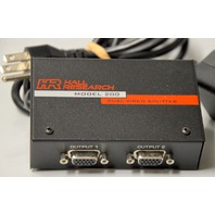 Hall Research Model 200 Dual Video Splitter with Cable and Power Supply