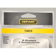 3 Defiant 15A/125V/1250W - 24 Hour HD Indoor Timer w/2 Grounded Outlets 458431