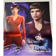 Jolene Blalock as Sub Commander T'POL Signed Photo and Card. ENT-JBL11