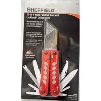 Sheffield 12-in-1 Multi Function Tool w/ Lockback Utililty Knife #58131