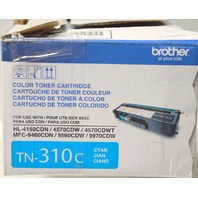 Brother TN-310c Color Toner Cartridge - Color Cyan - Toner never opened-box is torn.