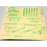 Vintage Automatic Push Button Lock Crayon Holders. Still in original Box.